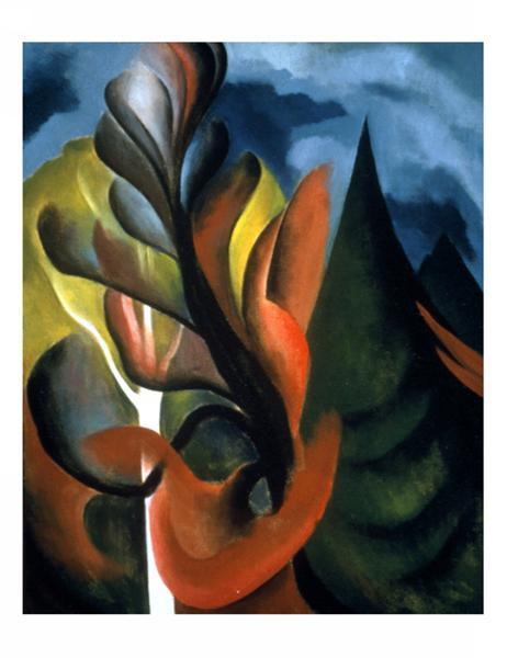 Maple and Cedar, Lake George, 1922 - Georgia O'Keeffe