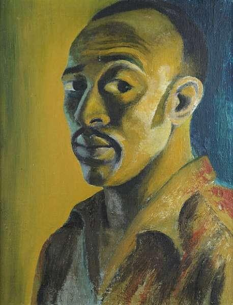 Self-portrait, 1947 - Gerard Sekoto