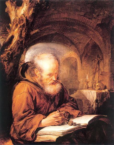 A Hermit Praying, 1670 - Gerrit Dou