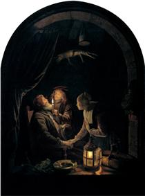 Dentist by Candlelight - Gerard Dou