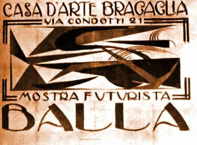 """Poster for """"Casa d'Arte Bragaglia"""", 1918 - Giacomo Balla"""