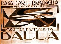 """Poster for """"Casa d'Arte Bragaglia"""" - Giacomo Balla"""