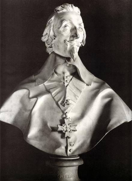 Portrait Bust of Cardinal Richelieu, 1641 - Gian Lorenzo Bernini