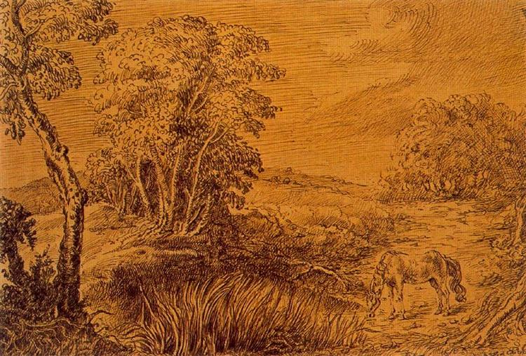 A Village in Summerset - Giorgio de Chirico
