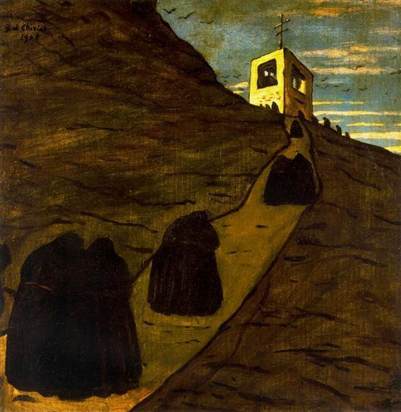 Climb to the monastery, 1908 - Giorgio de Chirico
