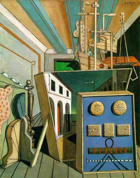 Metaphysical Interior with Biscuits, 1916 - Giorgio de Chirico
