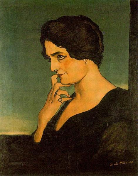 Portrait of senora Gartzen, 1913 - Giorgio de Chirico