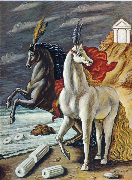 The divine horses, 1963 - Giorgio de Chirico
