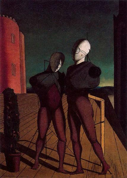 The duo (The models of the red tower), 1915 - Giorgio de Chirico