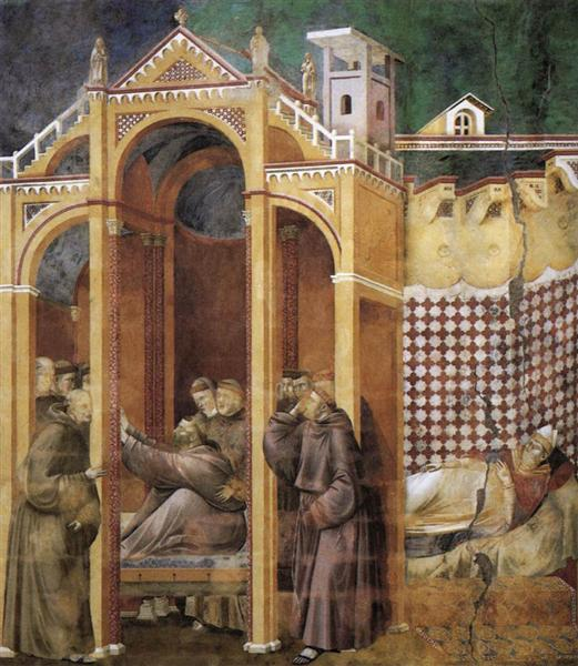 Apparition to Fra Agostino and to Bishop Guido of Arezzo, 1300 - Giotto