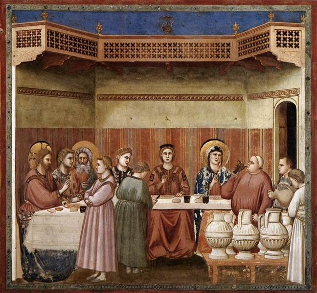 Marriage at Cana, c.1304 - c.1306 - Giotto