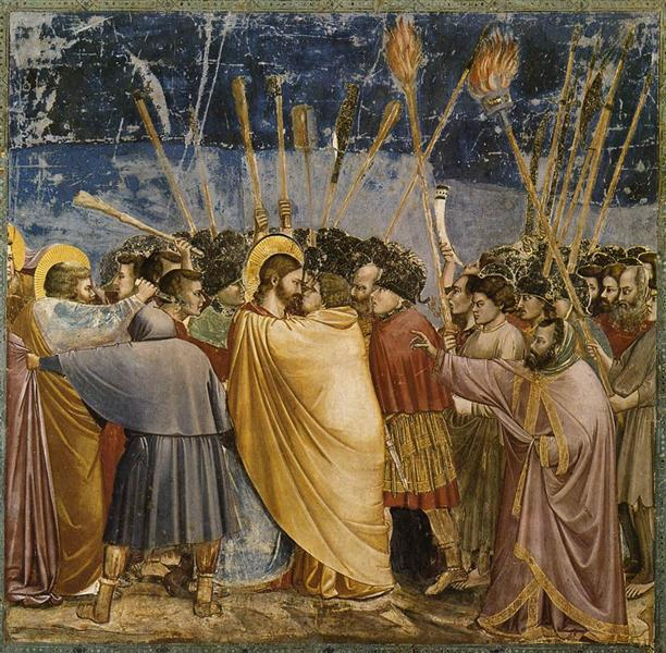 The Arrest of Christ (Kiss of Judas), c.1304 - c.1306 - Giotto