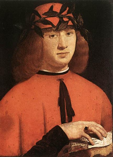 Portrait of Gerolamo Casio, 1495 - Giovanni Antonio Boltraffio