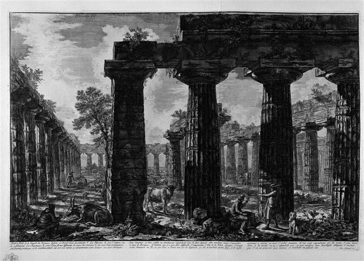 Another view of the facade of the pronaos, 1778 - Giovanni Battista Piranesi