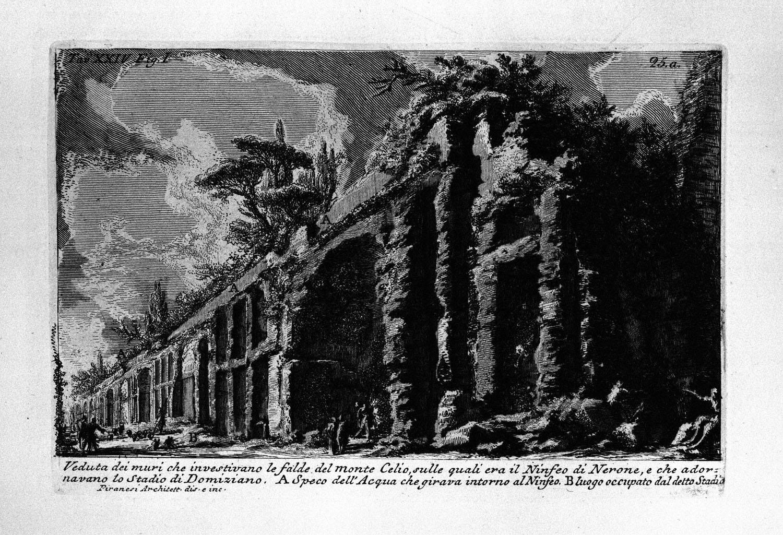 The Roman antiquities, t. 1, Plate XXIV. Celio o Oppio. The Seven Halls. Baths of Trajan., 1756