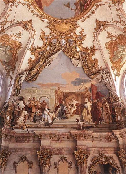The Investiture of Herold as Duke of Franconia, 1751 - Giovanni Battista Tiepolo