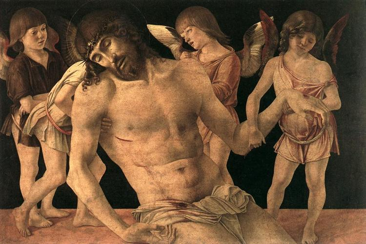 Dead Christ Supported by Angels, c.1474 - Giovanni Bellini