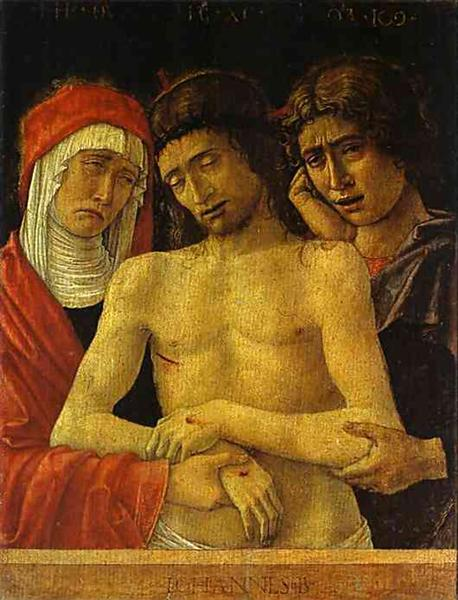 Pieta with the Virgin and St. John the Evangelist, c.1455 - Giovanni Bellini