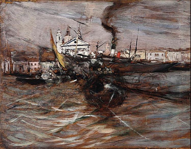 Ships in Venice - Giovanni Boldini - WikiArt.org