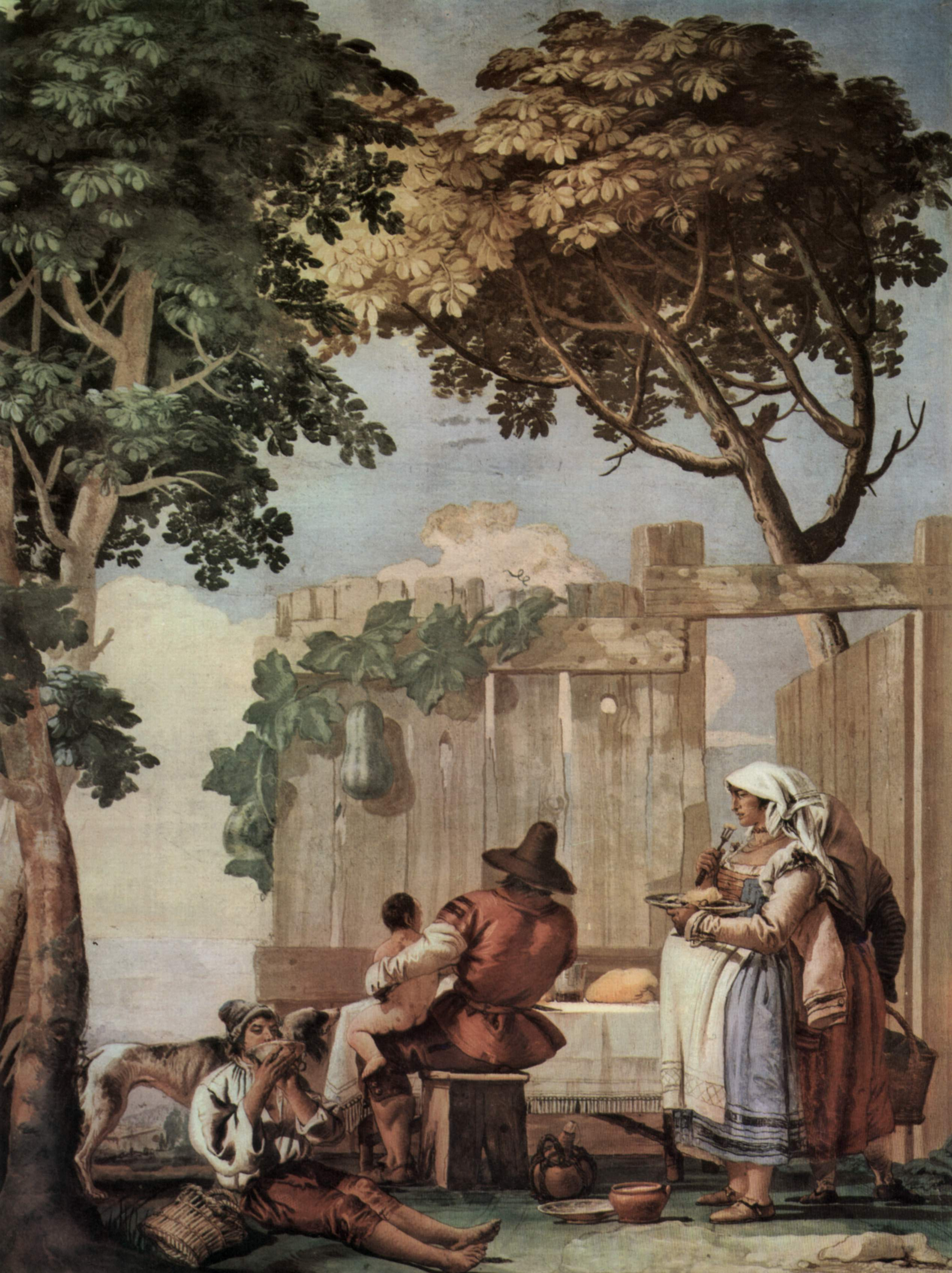 Peasant Family at Table, from the Room of Rustic Scenes ...
