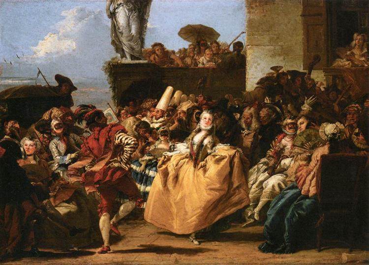 The Minuet or Carnival Scene, 1754 - 1755 - Giovanni Domenico Tiepolo