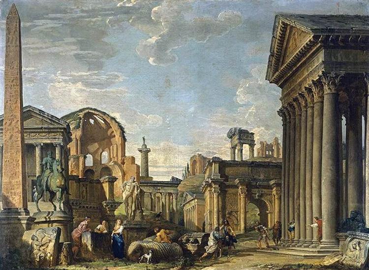 Architectural Capriccio, 1730 - Giovanni Paolo Panini