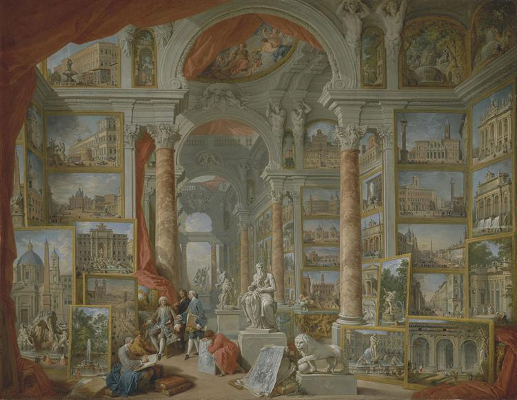 Picture Gallery with Views of Modern Rome, 1758 - Giovanni Paolo Panini