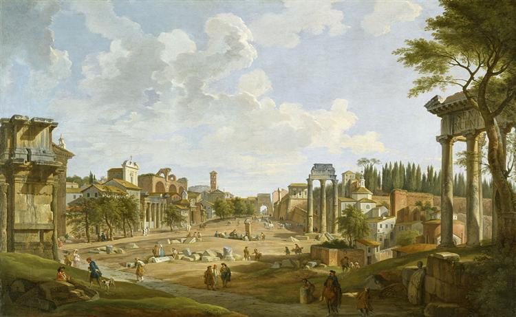 View of the Roman Forum, 1747 - Giovanni Paolo Panini