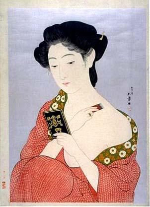 Woman Applying Powder, 1918 - Goyō Hashiguchi