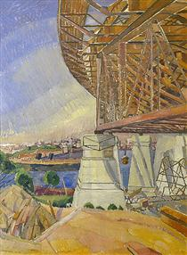 The curve of the Bridge - Grace Cossington Smith
