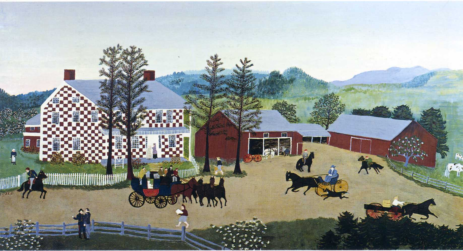Grandma Moses Coloring Pages Grandma Moses — All Artworks
