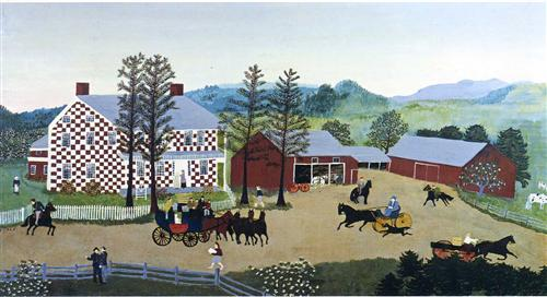 Checkered House - Grandma Moses