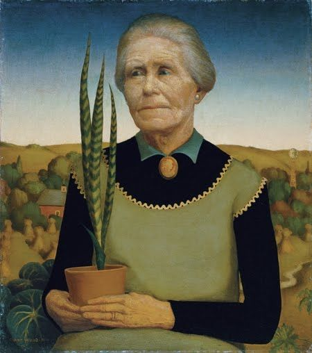 Woman with Plants, 1929 - Grant Wood