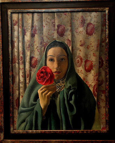 Lady with Roses, 1937 - Greta Freist