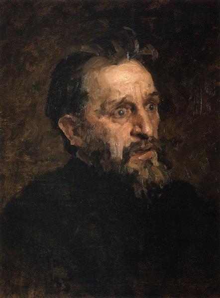 Portrait of I. Repin (study), 1883 - Grigoriy Myasoyedov