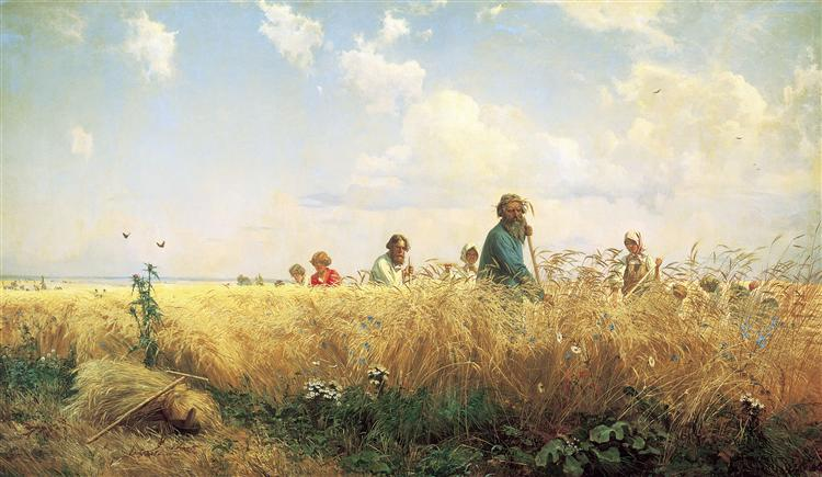 Time of harvesting (Mowers), 1887 - Grigoriy Myasoyedov