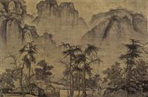 Clearing Autumn Skies over Mountains and Valleys (detail) - Guo Xi