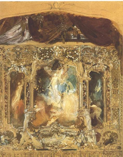 Design for a theater curtain, 1883 - Gustav Klimt