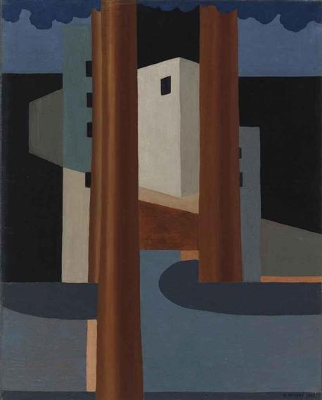 Landschaft mit Häusern, 1928 - Gustave Buchet