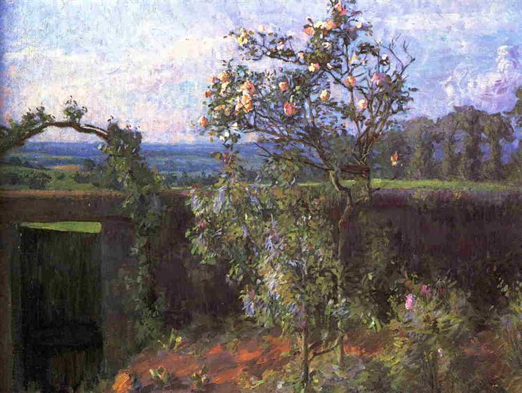 Landscape near Yerres, c.1877 - Gustave Caillebotte