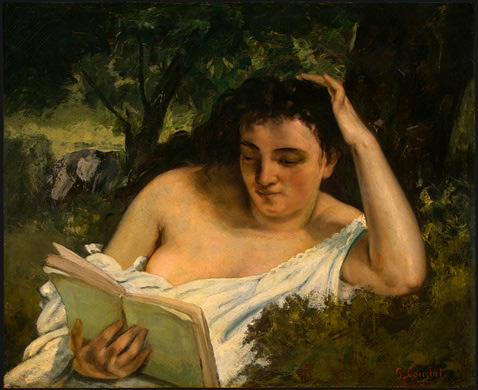 A Young Woman Reading, 1866 - 1868 - Gustave Courbet