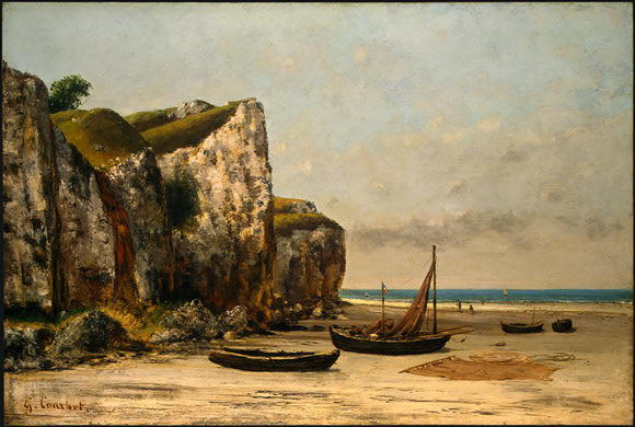 Beach in Normandy, c.1872 - c.1875 - Gustave Courbet