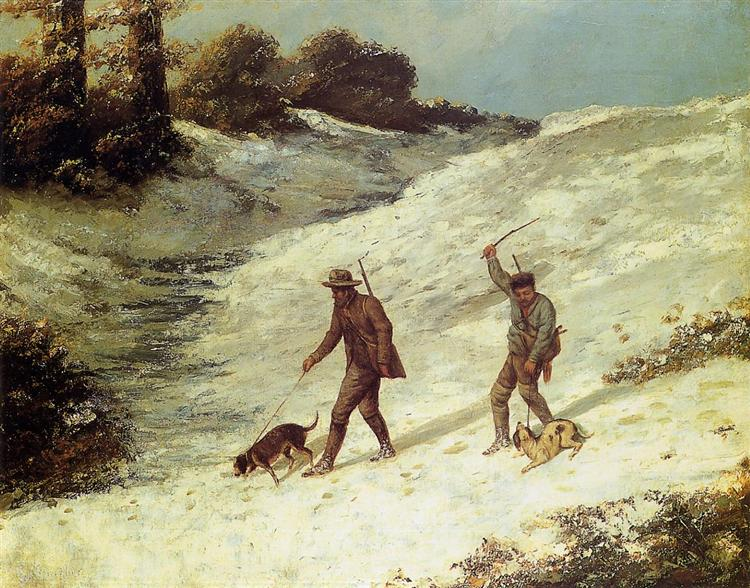 Poachers in the Snow, 1867 - Gustave Courbet