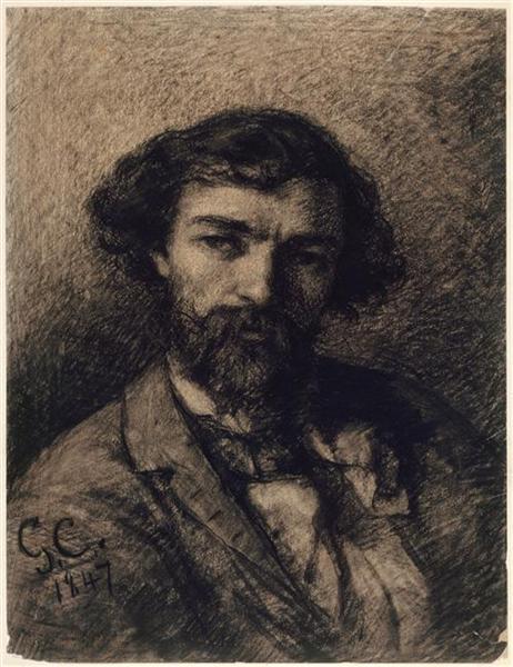 Portrait of Alphonse Promayet, 1847 - Gustave Courbet