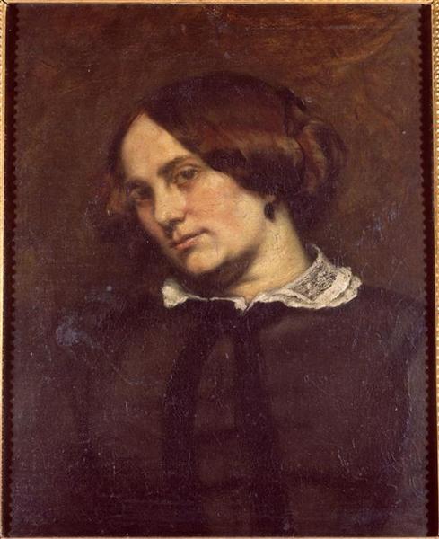 Portrait of Zélie Courbet - Gustave Courbet