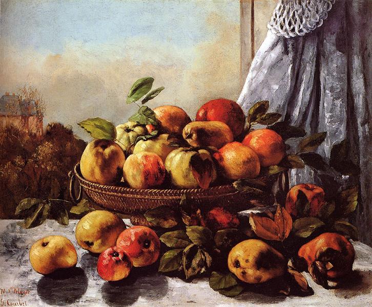 Still Life Fruit, c.1871 - c.1872 - Gustave Courbet