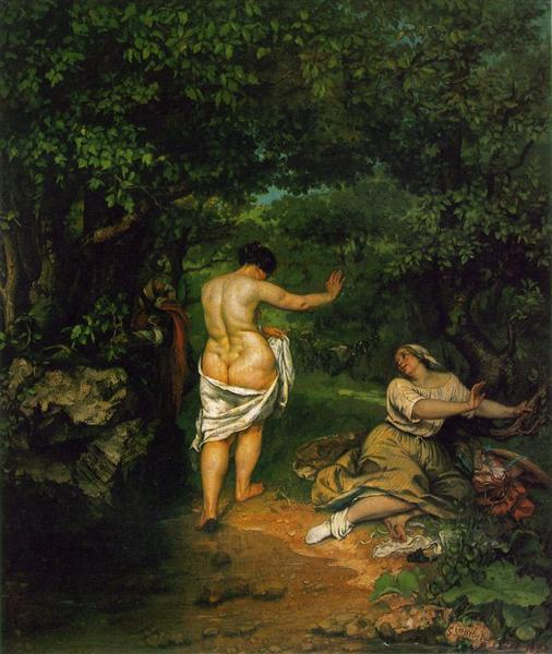 The Bathers, 1853 - Gustave Courbet