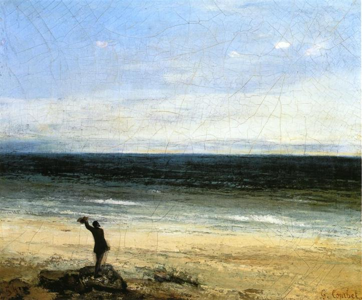 The Beach at Palavas, 1854 - Gustave Courbet