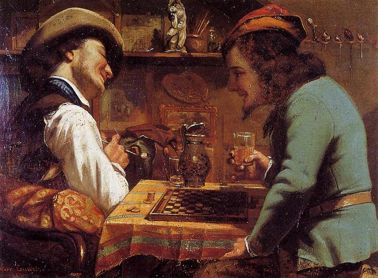 The Draughts Players, 1844 - Gustave Courbet