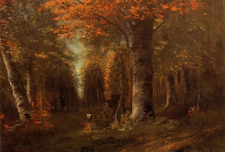 The Forest in Autumn, 1841 - Gustave Courbet
